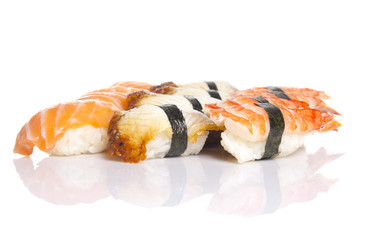 Sushi nigiri isolated on white background