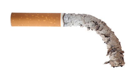 Burned cigarette, Men's Health Concept