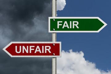 Fair versus Unfair