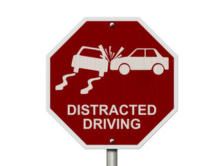 No Distracted Driving Sign