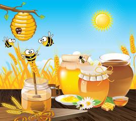 honey bees landscape