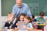 Fototapety unterricht mit dem tablet-pc