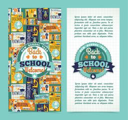 Back to school banner. Vector Illustration