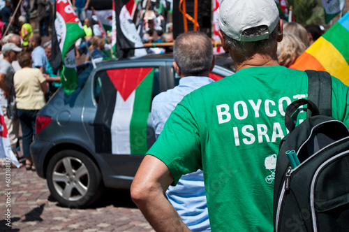Mulhouse  2 august 2014 - peace between Israel and Palestine Poster