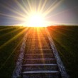 canvas print picture - Light stairway