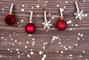Snowflakes and Christmas Balls on Line