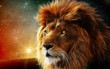 Leinwanddruck Bild - Загадочный лев