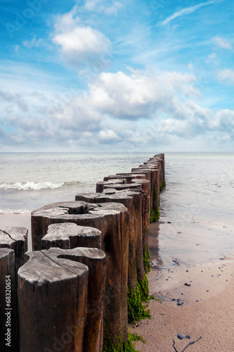 Breakwater on the Baltic - 68320654