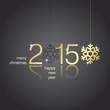 Gold 2015 snowflakes black background