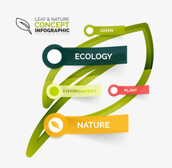 Eco leaf infographic concept
