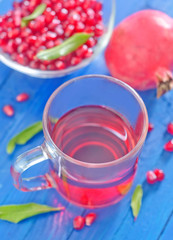 pomegranate and juice