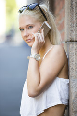 Teenage girl talking in the phone
