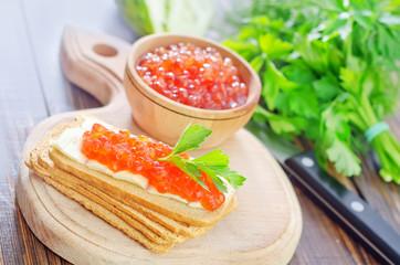 caviar on bread