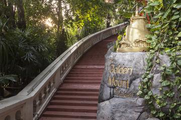 Eingang zum Golden Mount in Bangkok