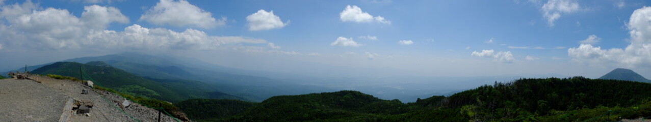 北横岳からの展望 パノラマ 頂上 山頂