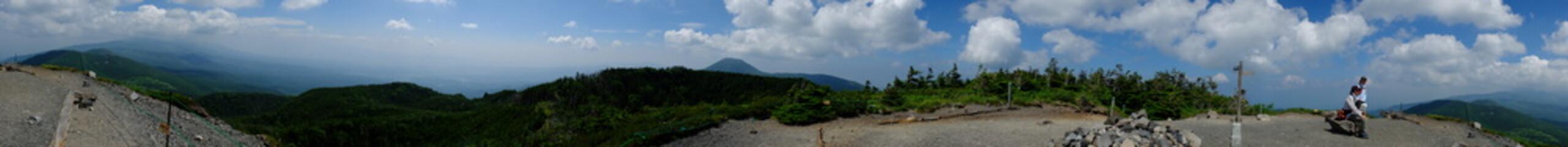 北横岳からの展望 パノラマ 頂上 山頂 展望