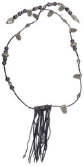 Vintage necklace. Silver with violet Beads