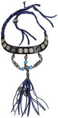 Vintage necklace. Silver with blue Beads