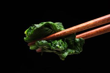 ほうれん草のおひたし spinach 黒背景