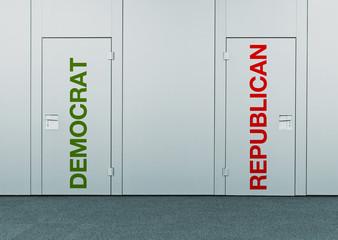 Democrat or Republican, concept of choice