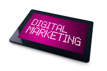 Digital Marketing on Generic Tablet computer display