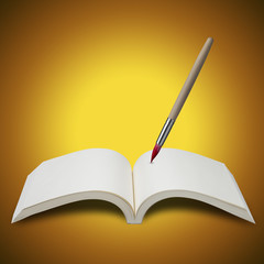 Open Book and Paint brush