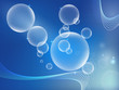 Abstract bubbles background