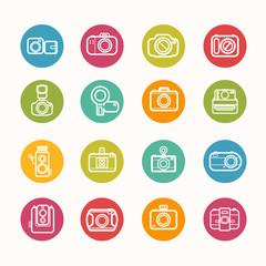 Camera icons set Circle Series - eps.10