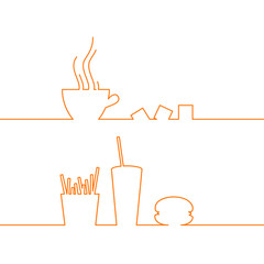 Fast food design.