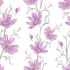 Buttercup seamless pattern.