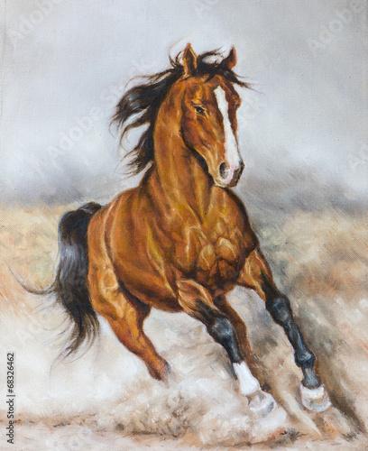 dipinto di un cavallo al galoppo - 68326462