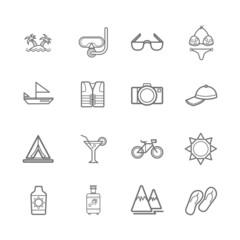 Marine icons eps.10