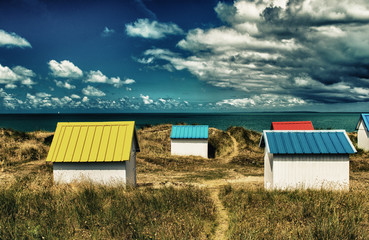 Colourful houses on the beach