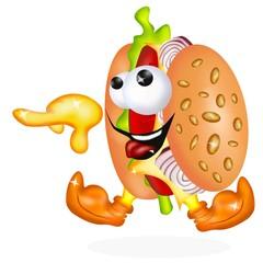 hamburger vivo
