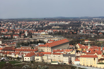 View of residential quarter from Petrin hill