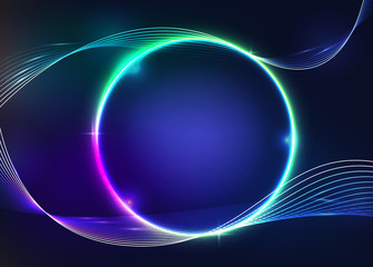 Nice colorful glowing circle plasma modern Background