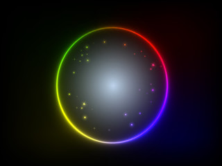 colorful glowing circle background Illustration