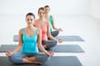 In yoga classes