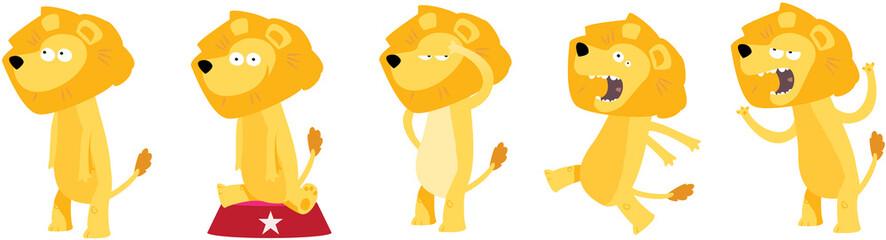 collection de lions pour enfants