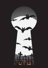 Halloween Through Keyhole