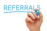 Referrals Blue Marker