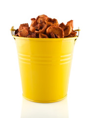 Dried Apples in the Yellow Pail