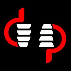 .Like and dislike - social symbol, vector