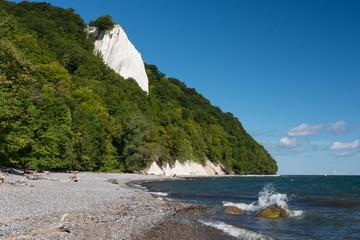 Chalk Cliffs in the National Park Jasmund, Rügen, Baltic Sea, M