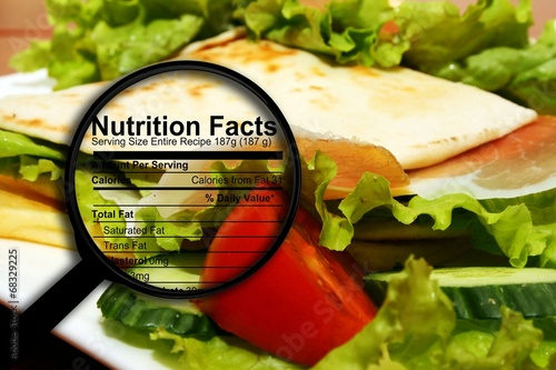 Food nutrition facts - 68329225
