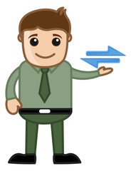 Cartoon Man Showing Connectivity Sign Vector