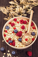 Oat flakes cereal