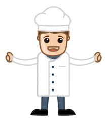 Happy Chef Cartoon Vector