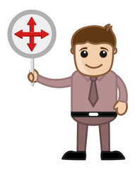 Man Showing Crossed Arrows Sign