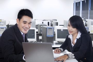 Businesspeople working together in office